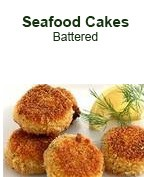 Seafood Cakes -  Battered
